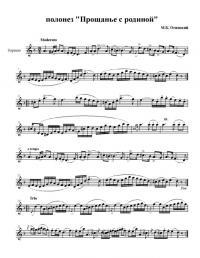 Полонез огинского ноты для скрипки