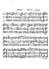 скрипок и виолончели ре мажор: Менуэт ...