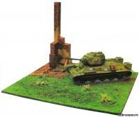как сделать танк из бумаги схемы т-34
