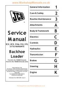 JCB 3CX 4CX Service Manual eng