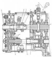 Механизмы коробок передач размещены ...