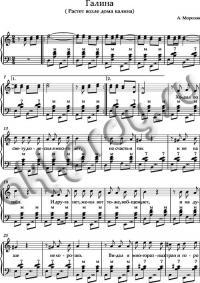 Ноты «Галина» аккорды (Гнатюк)