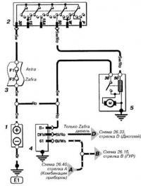 Схема кнопки противотуманных фар на ...