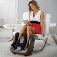 "App-Controlled Foot &amp; Calf Massager</p> <p>http://amzn.to/1r96IUY</p> <p>App-controlled from your iPod touch, iPhone or iPad devices via Bluetooth wireless technology Use the Free App to customize your massage without bending over to reach the manual controls Soothing, Pulse and Energize full-coverage compression and roller massages work wonders on your tired calves and feet How our uSqueez App-Controlled Foot Massager works. Download the FREE App from the App Store Place uSqueez App in front of your chair Rest your feet inside the footbeds Power on from the side control panel Use the app to control the three-intensity massage programs Soothing (lowest), Pulse (medium), Energize (high) For adult use only.</p> <p>Important: Any individual who may be pregnant, has a pacemaker, suffers from diabetes, phlebitis and/or thrombosis, is at an increased risk of developing blood clots, or who has pins/screws/artificial joints or other medical devices implanted in his/her body should consult with a physician before using a massaging device designed for home use. Sit back, relax, and adjust your massage from the App. Bending over to reach the controls every time you want to adjust your massage is over.</p> <p>Introducing the first and only foot massager with App control from your iPod touch, iPhone or iPad devices. Syncs fast via Bluetooth wireless technology. Use your device (instead of bending to reach controls) to select three intensity programs. Choose from Soothing (lowest), Pulse (medium), Energize (high) and you can also add vibration. ""What does an App-controlled massage feel like?"" Complete relaxation. Imagine yourself sitting in your favorite chair receiving a soothing foot and calf massage.</p> <p>You don't want to disrupt it to reach the controls. Now you don't have to. With the app, you can stay relaxed, making adjustments with a tap of the app. You barely have to move. If you're really good, you may not even have to open your eyes. Full-coverage compression gently squeezes your legs as rollers work wonders on tight, tired calves and feet."