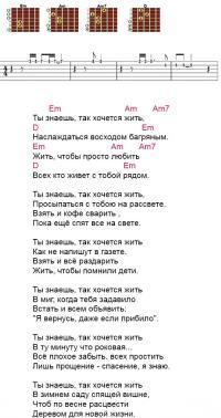 «Так хочется жить» аккорды