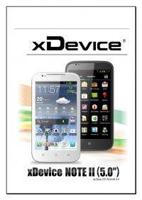 """Инструкция для XDEVICE ANDROID NOTE-II-5.0, """"ANDROID ..."""
