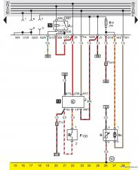 Электрическая схема фольцваген б4