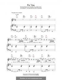 Fix You Piano Sheet Music