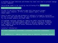 Найти на «синем экране» код ошибки ...