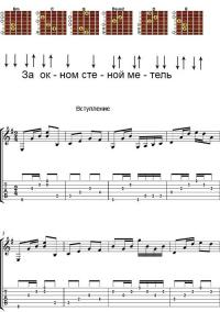Аккорды песни «Метель» (ДДТ - Шевчук)