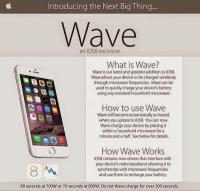Пользователи iOS 8 массово уничтожают свои iPhone и iPad, поверив в шутку о зарядке в микроволновых печах</p> <p>Едва только в соцсетях появилось объявление о новой «революционной» функции iOS 8, позволяющей заряжать мобильные устройства в микроволновых печах, как легковерные пользователи, обрадовавшись такому повороту событий, ринулись проверять это свойство мобильной платформы.<br /> Веб-издание Geek сообщает, что шутники постарались на славу — подготовили рекламную афишу, копирующую стилистику Apple - на ней был изображен смартфон iPhone 6 и изложена инструкция по пользованию эксклюзивной версией мобильной ОС — iOS 8 Wave. Главным достоинством фиктивной версии платформы, по задумке авторов постера, стала пока нереализованная купертиновцами функция беспроводной зарядки. Вот только заряжать пришлось бы не посторонними девайсами, все намного проще — бросил свой гаджет в микроволновку и буквально за несколько секунд батарея заряжена и устройство готово к работе.</p> <p>Чтобы шутка «сработала», авторы подробно расписали принцип работы функции. Так, указана длительность зарядки — 60 секунд при мощности 700 Вт или 70 секунд при мощности 80 Вт. Авторы не рекомендуют держать устройство в микроволновке дольше 300 секунд — могут повредиться тонкие схемы.<br /> Люди не только не оценили шутку, но принялись заряжать устройства в микроволновках, в результате чего iPhone и iPad участвовавшие в эксперименте почили в бозе. Один из пользователей то ли озадачено, то ли гневно, описал свой опыт зарядки смартфона в Twitter:</p> <p>«Я попытался воспользоваться Wave — новой функцией iOS 8, которая предполагает возможность подзарядки телефона с помощью микроволновки. Не работает».</p> <p>К сообщению приложено фото взорвавшегося смартфона.</p> <p>Официальный релиз iOS 8 состоялся 17 сентября и, к сожалению (или к счастью) не содержит настолько «революционных» нововведений, как возможность подзарядки мобильных устройств с помощью микроволновки. Тем не менее обновиться до свежей версии моб