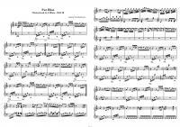 Ноты «К Элизе» (Л.В. Бетховен)