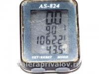 Велокомпьютер AS-824 на велосипеде Motor ...