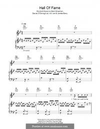Hall of Fame Piano Sheet Music
