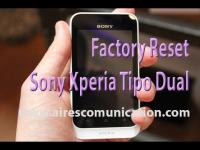 Factory or hard reset to Sony Xperia tipu Dual phone