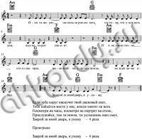 Ноты с аккордами к песне Закрой за ...
