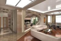 Дизайн квартиры с колоной
