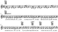 Ноты с аккордами к песне «