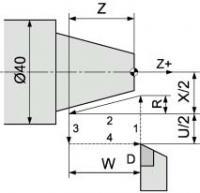Пример: N100 GO Х52 Z2