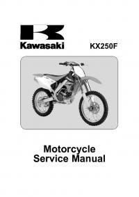 kawasaki kx250f service and