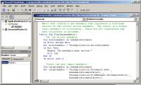 Click within the VBA code