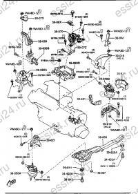 Двигатель, опоры трансмиссии (МКПП ...