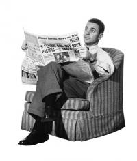 Person Reading Newspaper Clip Art